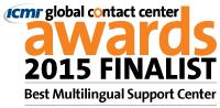 Kivuto 獲得 2015 年全球客服中心獎最佳多語支援中心類別的決賽提名。