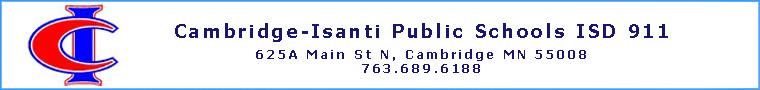 Cambridge-Isanti Public Schools ISD 911