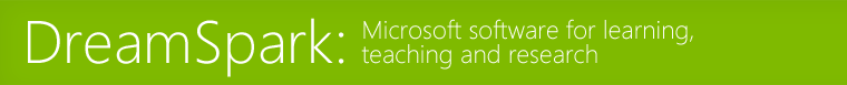 Microsoft DreamSpark Software Center for Department of Computing