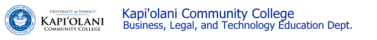 Kapiolani Community College - Business Legal Technology Education Dept.