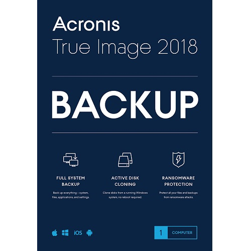 Acronis True Image Subscription 1 Computer + 250 GB Acronis Cloud Storage - 1 year subscription